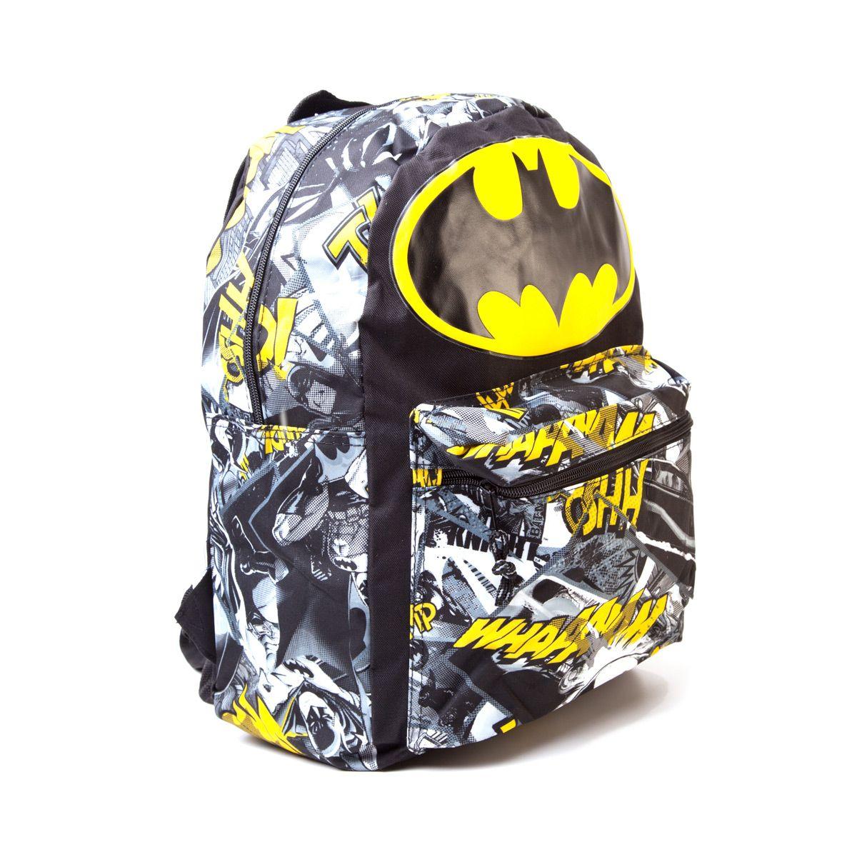sac dos batman big logo et vignettes comics logostore work batman inspiration