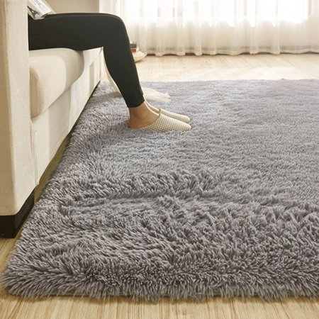 Soft Comfy Fluffy Shag Area Rug For Bedroom Living Room Fluffy Shag Fur Carpet For Kids Nursery Plush Shaggy Rug Fuzzy Decorative Floor Rugs Contemporary Luxury Bedroom Area Rug Room Carpet