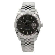 Men's Rolex Datejust 41 Stainless Steel w/ Dark Rhodium Dial 126300 #stainlesssteelrolex