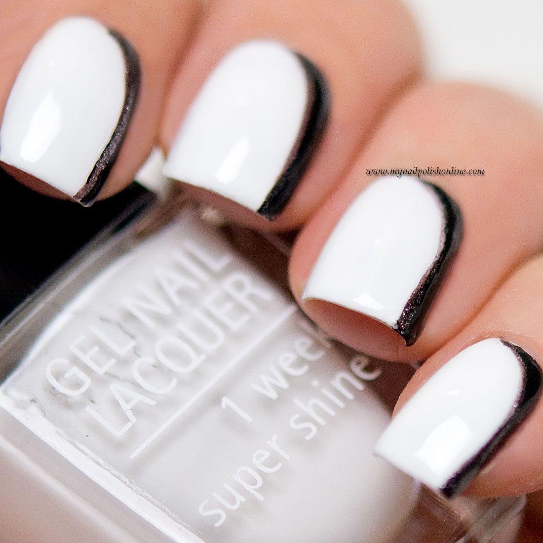 31DC2015 - Day7 B&W Nails | ¤Nails I Love¤ | Pinterest | Nail polish ...