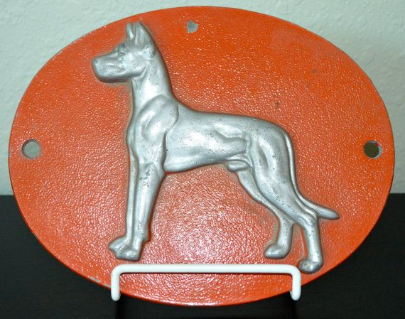 Vintage Great Dane Trailer Truck Emblem Plaque By Theatomichouse