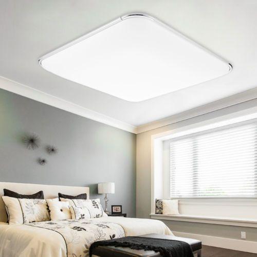 LED Energiespar Deckenleuchte Panel Deckenlampe Lampe Alu Matt Wohnzimmer 36Wsparen25 Sparen25