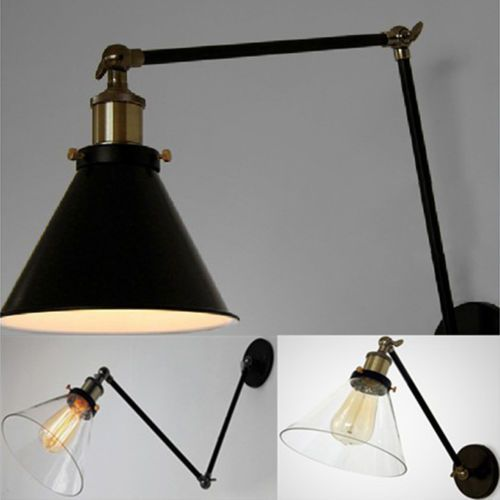 Vintage Industrial Loft Swing Arm Wall Sconce Retro Office Ambient Lighting  NEW
