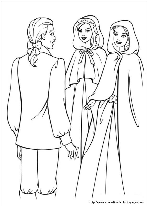 Barbie Princess and Pauper Coloring Pages - Educational Fun Kids ...