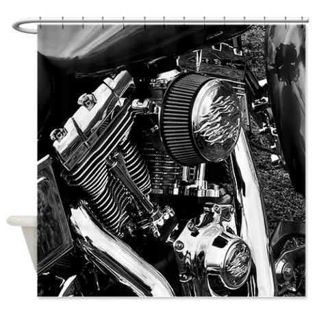 Chrome Shower Curtain. Harley DavidsonShower CurtainsMotorcycle