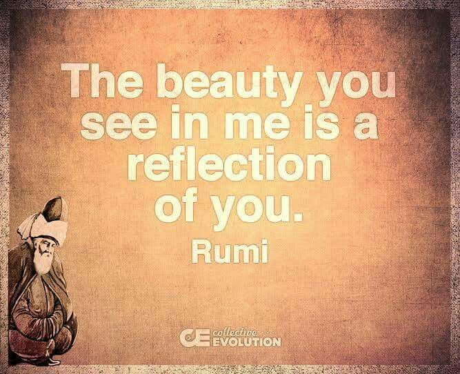 What You See In Others Is A Reflection Of Yourself Rumi Truth