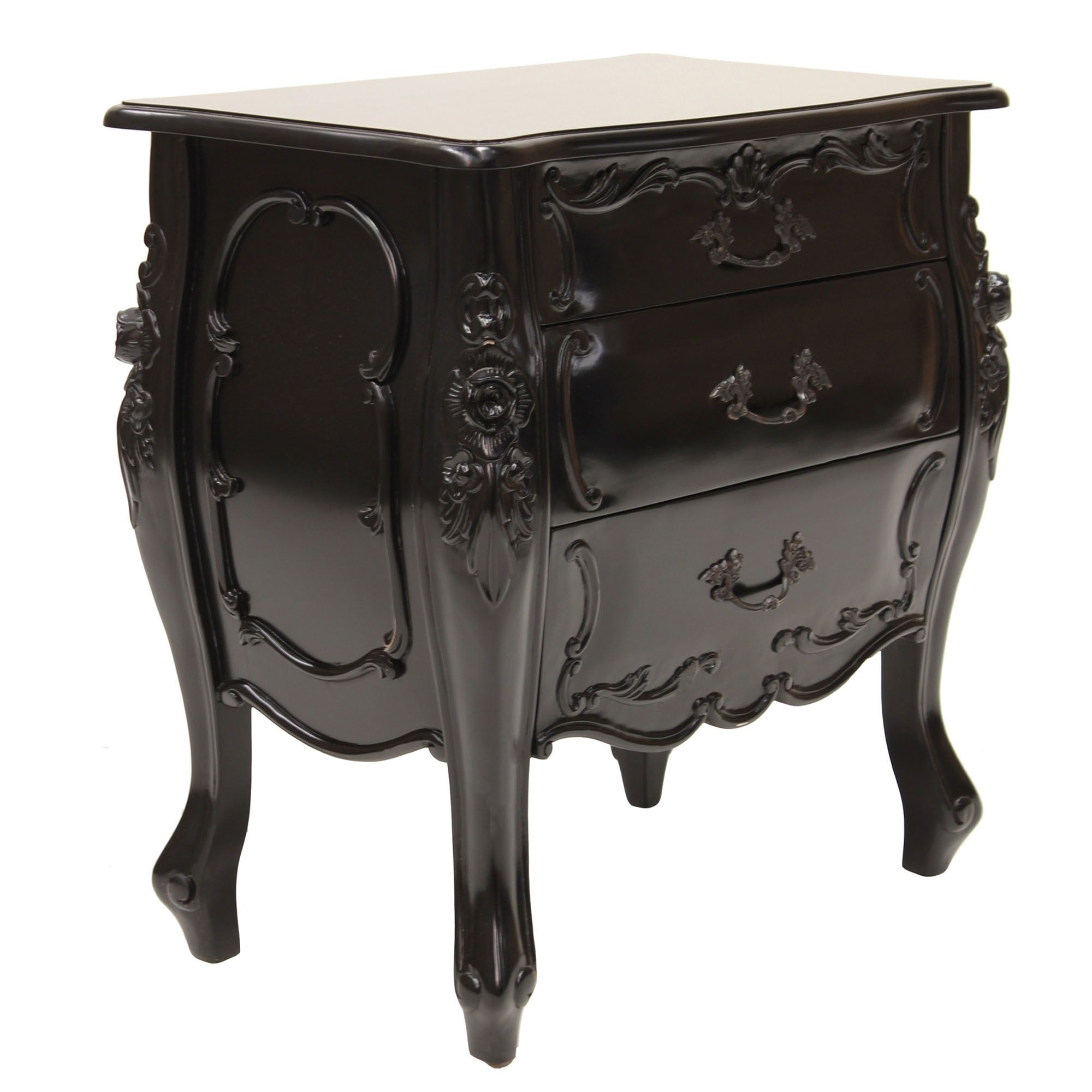 French Provincial Aubrey Bedside Table French provincial
