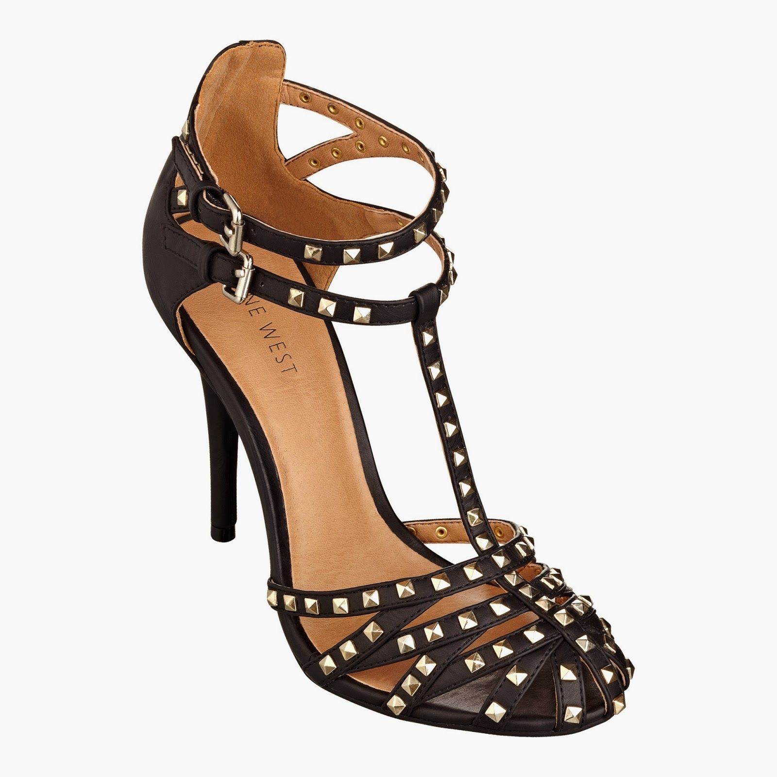 Nine West Studded Strappy Heels on sale $74.25 Nine West | Dress ...