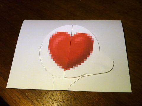 Rotating Smiley Love Heart Card Tips Valentines Cards Homemade Valentine Cards Heart Cards