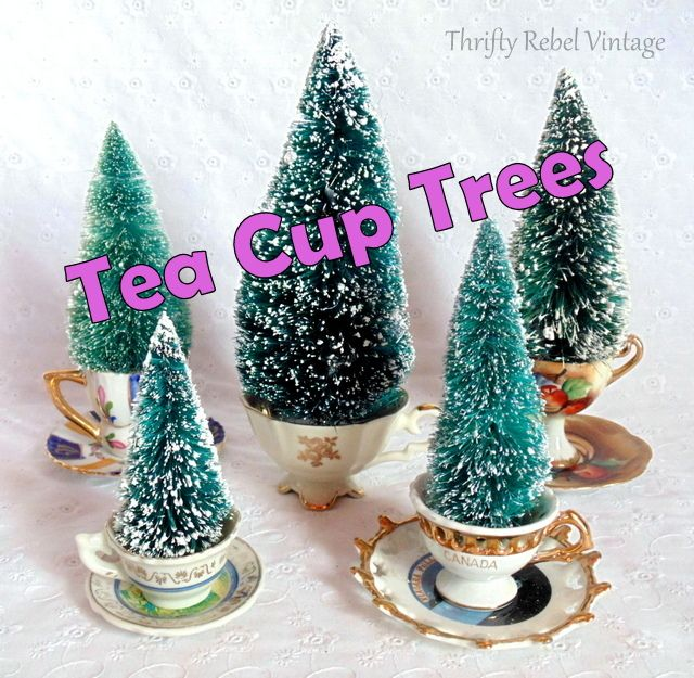 Easy Mini Tea Cup Trees Tea cup, Cups and Bottle brush trees