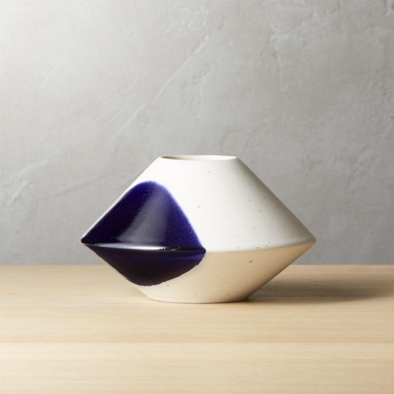 Angular Blue Vase