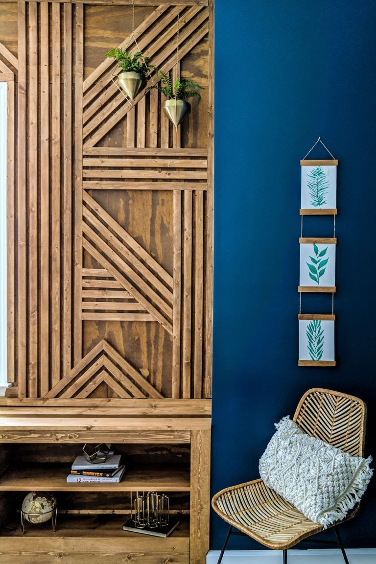 Make The Coolest Wood Accent Wall This Weekend Wood Feature Wall Wood Accent Wall Accent Wall Designs