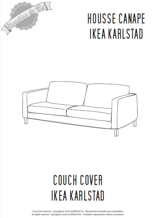 Miraculous Ikea Karlstad Couch Cover Pattern Patron Housse Ikea Short Links Chair Design For Home Short Linksinfo
