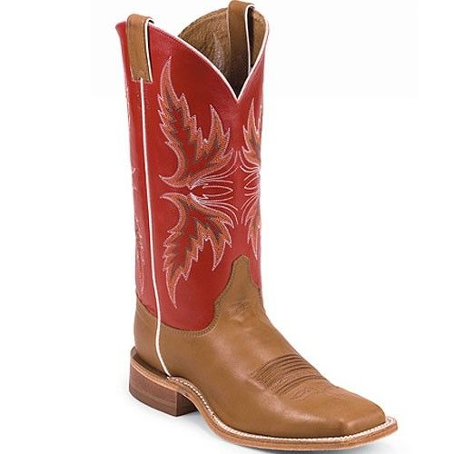 Justin Brands - Men's Cowboy Boots -- Brandy Burnished Calf with ...