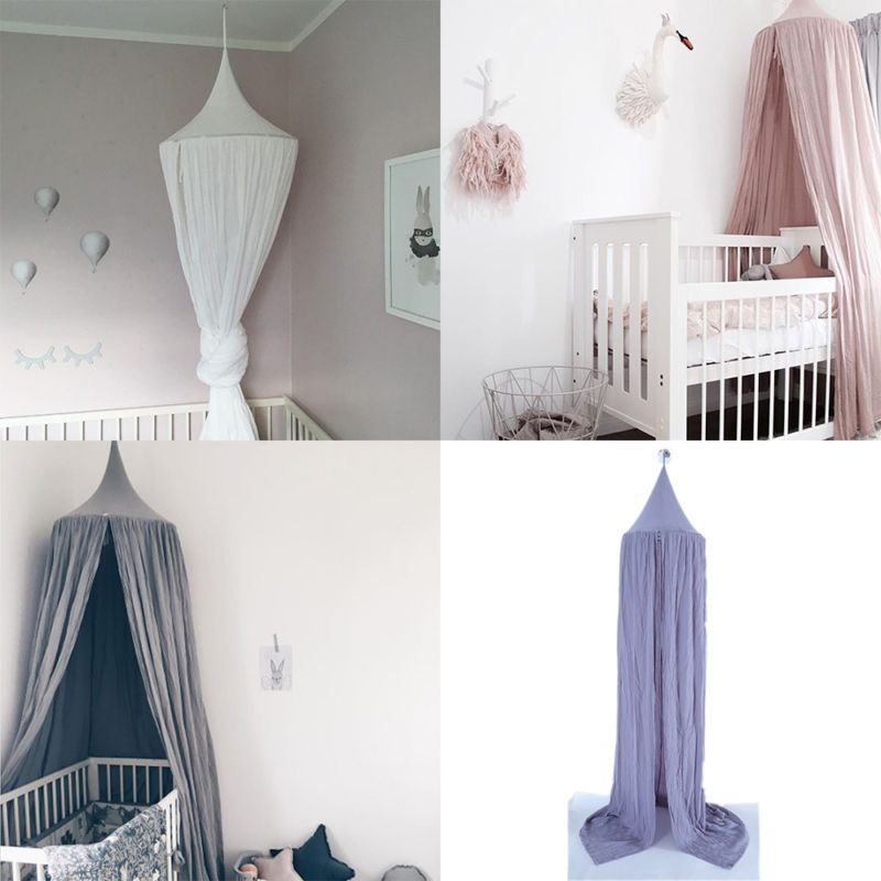 New Kids Baby Bedding Bed Valance Canopy Netting Round Dome Mosquito ...