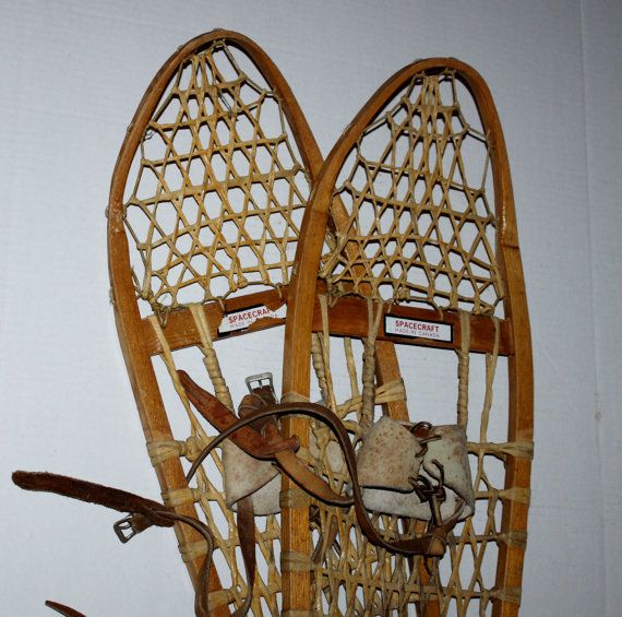 Vintage Wooden Canadian Snowshoes Spacecraft By