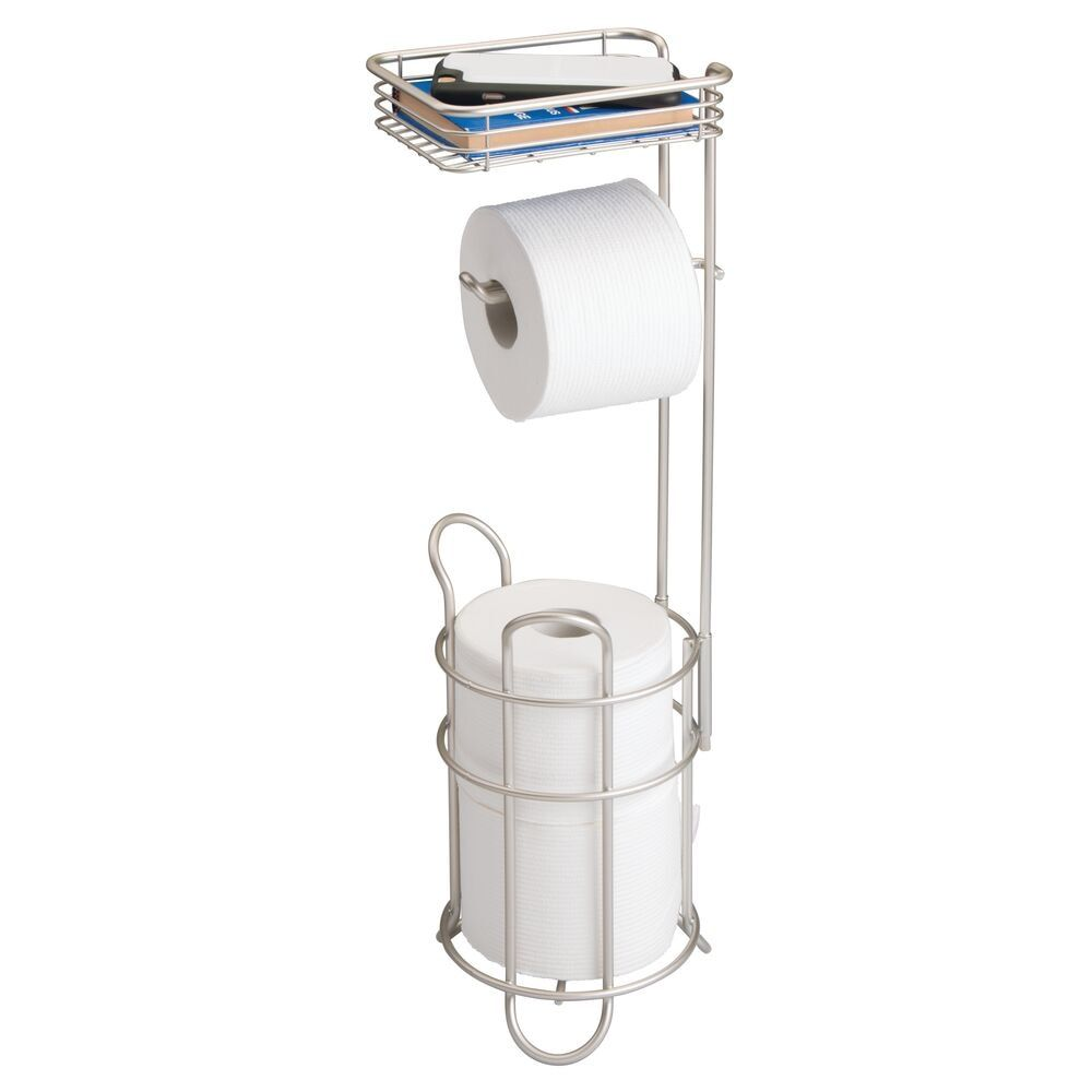 Toilet Tissue Paper Roll Dispenser Storage Shelf In 2021 Toilet Paper Holder Stand Toilet Paper Holder Toilet Paper Roll Holder