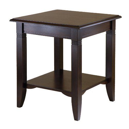 Winsome Wood Nolan End Table   Winsome Wood Nolan End Table Clean, traditional lines make Nolan end table a great fit for any décor and home. The lower shelf gives more room to display and storage. Made of solid and composite wood. Easy to Assemble.  http://www.thelawngarden.com/winsome-wood-nolan-end-table/
