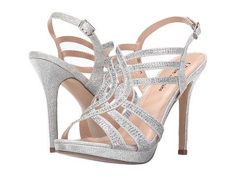 lauren lorraine vila  silver strappy sandals silver high
