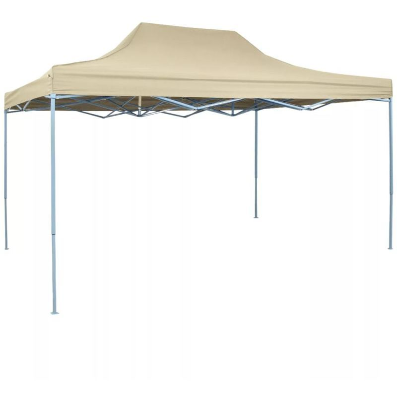 Foldable Tent PopUp 3x4.5 m Cream White Pop up marquee