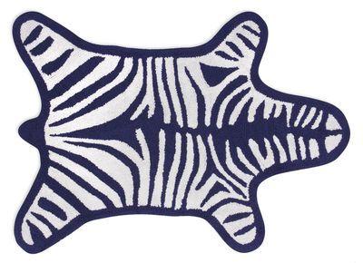 Tapis De Bain Zebre Jonathan Adler Blanc Bleu Marine Made In Design Tapis De Bain Tapis Et Jonathan Adler