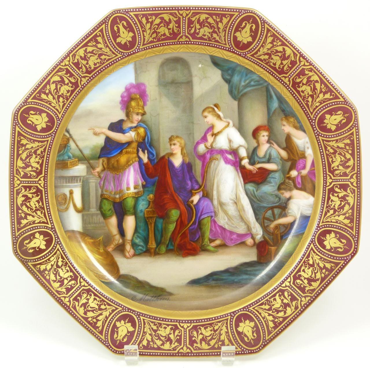 Royal Vienna Porcelain Portrait Plate Royal Vienna Porcelain Plates Pinterest Vienna