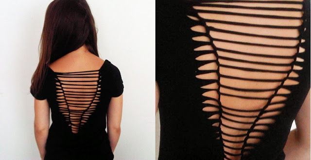 5e15e411 Coco 的美術館: DIY T- Shirt Redesign Ideas (part 3)-- DIY T- Shirt Redesign :  Weaving/ Pin