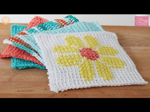 Tunisian Simple Dish Cloth - The Crochet Crowd.. Here is a project ...