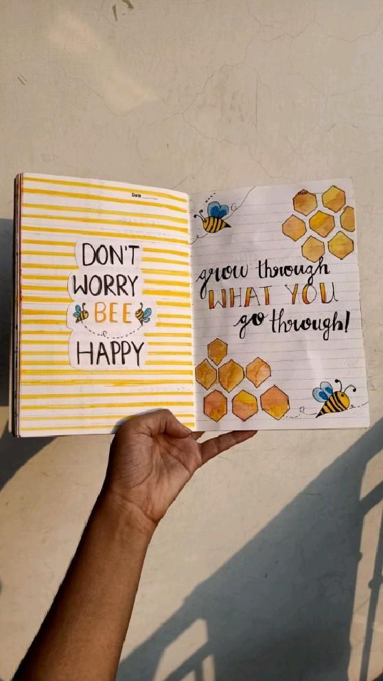 dont worry be happy😊   grow through what you gi through🐝