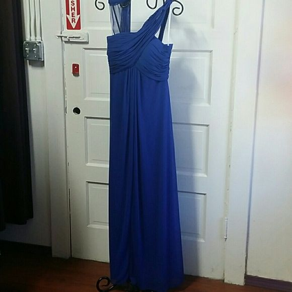 Gown navy blue Navy blue Long formal dress Dresses One Shoulder