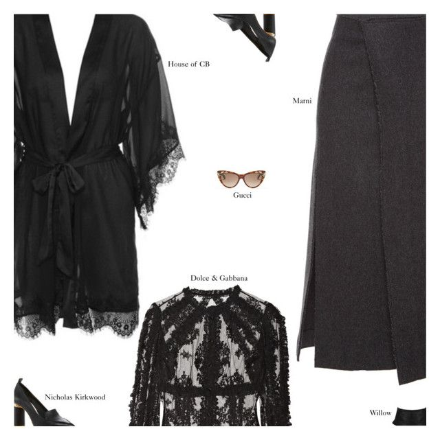 """""""Untitled #3018"""" by amberelb ❤ liked on Polyvore featuring Nicholas Kirkwood, Marni, Dolce&Gabbana and Gucci"""