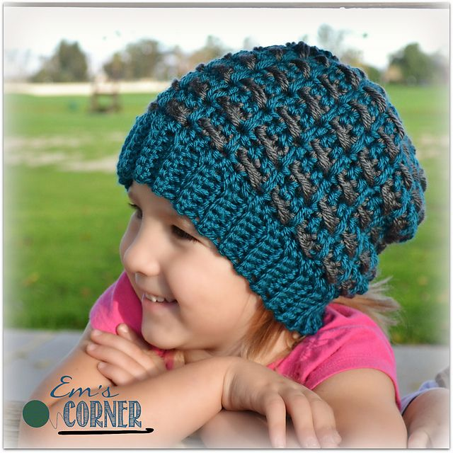 Ravelry: Checkerboard Slouch pattern by Emily Truman $3.00