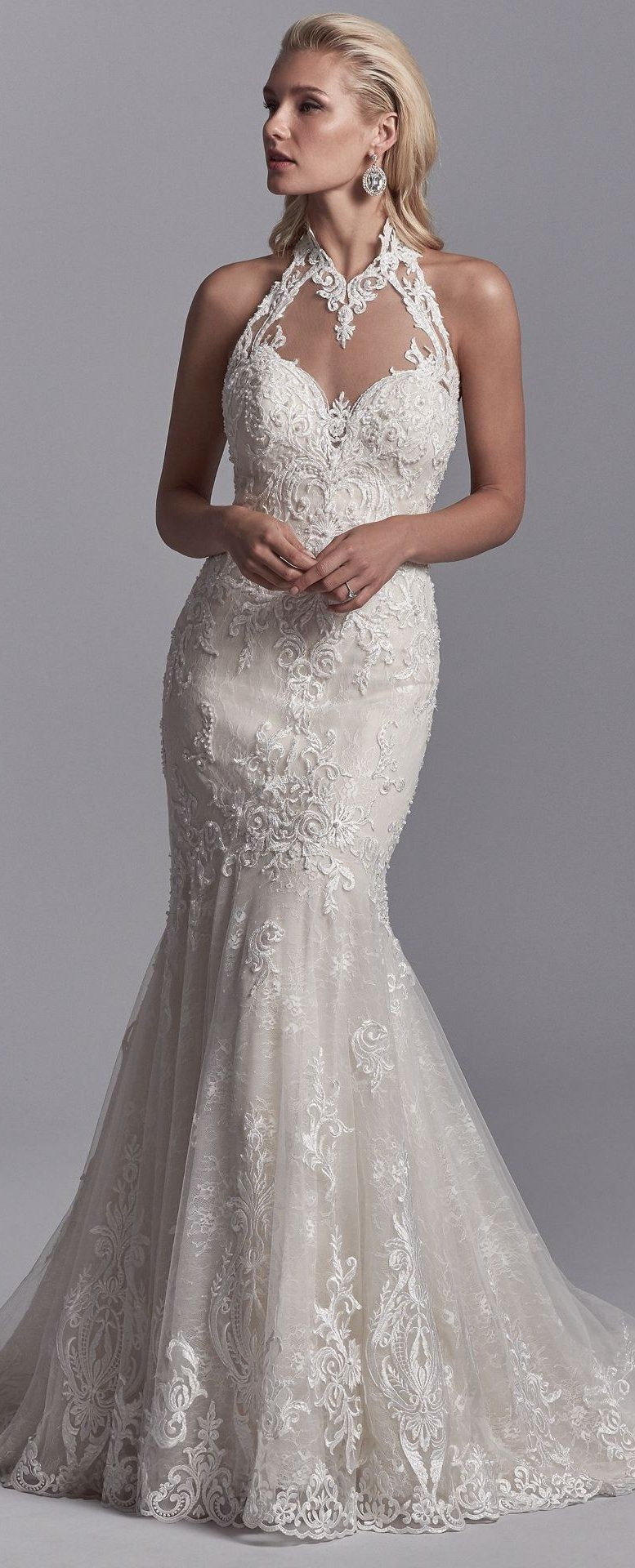 Maggie sottero wedding dresses embroidered lace illusions and