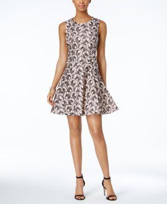 da00fb1c53a TOMMY HILFIGER Tommy Hilfiger Lace Fit &Amp; Flare Dress. #tommyhilfiger  #cloth # dresses