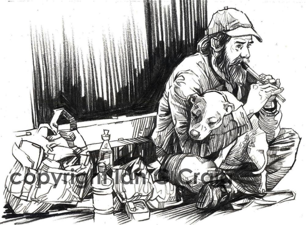 Nottingham Homeless Homelessness Art Sketches Meaningful Art