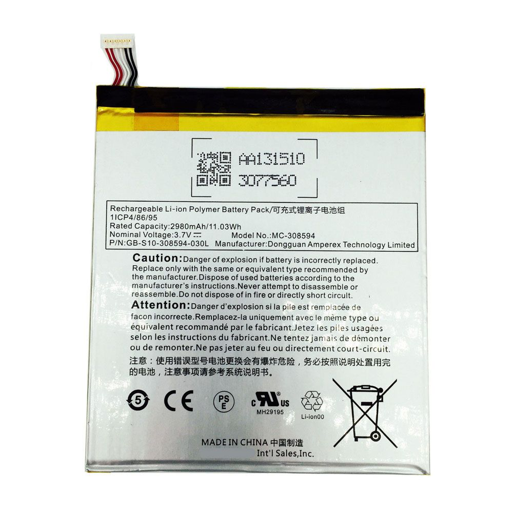 "NEW OEM Battery MC-308594 For Amazon Kindle Fire 7/"" 5th Gen SV98LN 2980mAh"