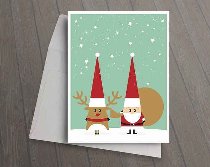 christmas cards illustrated cards christmas card set unique christmas card note card