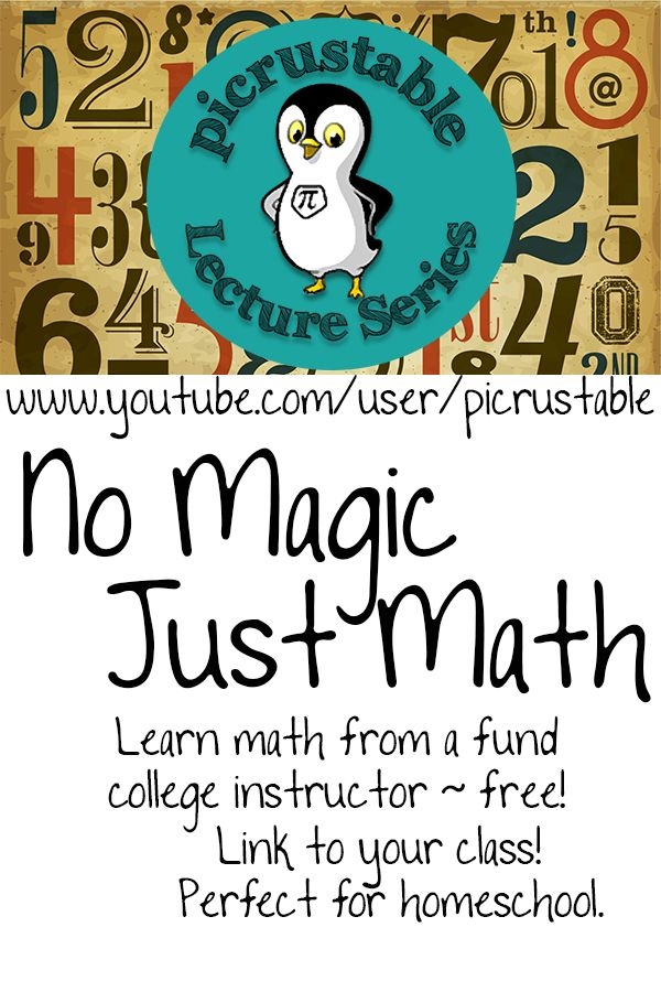 Free math lectures - all day - every day. Link to your ...