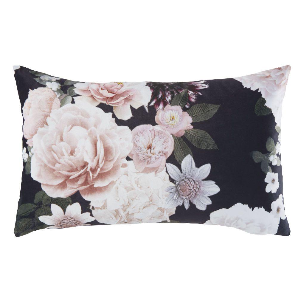 Kissen In Rose Und Schwarz Mit Blumen Motiv 30x50 In 2020