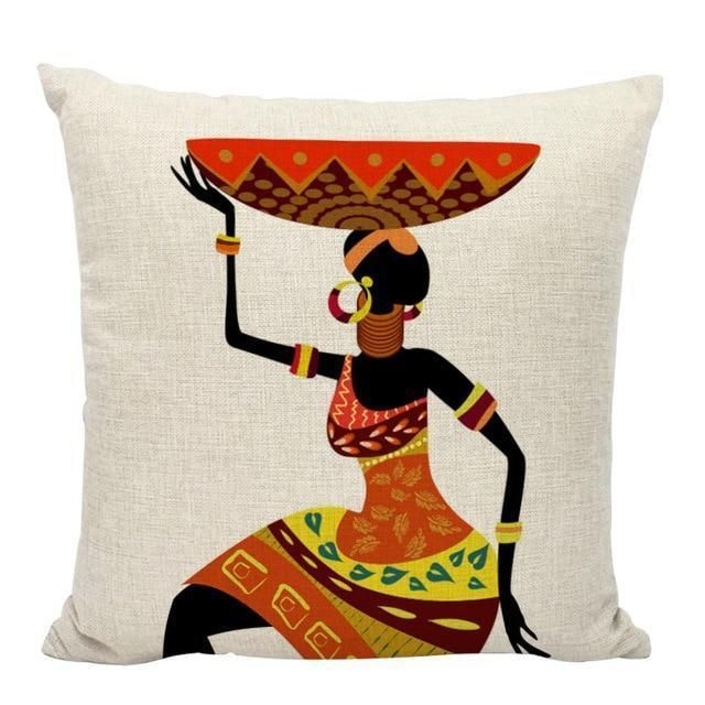 Cushion Cover Africa Culture Art Pillow Cover African Throw Pillows Pillow Art Pillow Covers