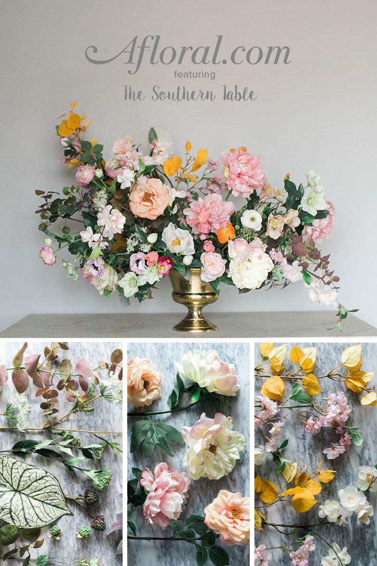 How To Make A Faux Flower Arrangement Diy Wedding Pinterest