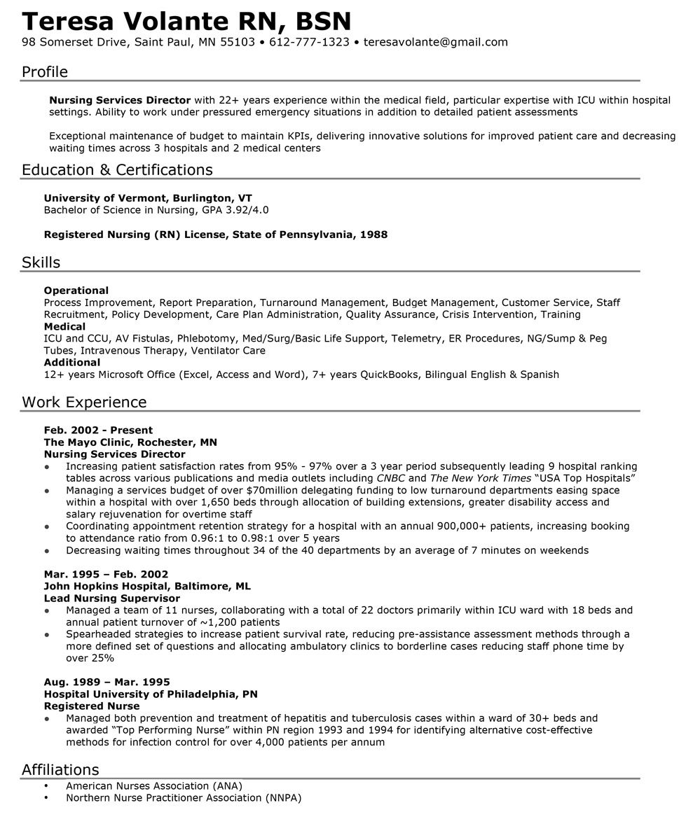 Medical Resumes Examples Resume Writer Direct Resumewriterd On Pinterest