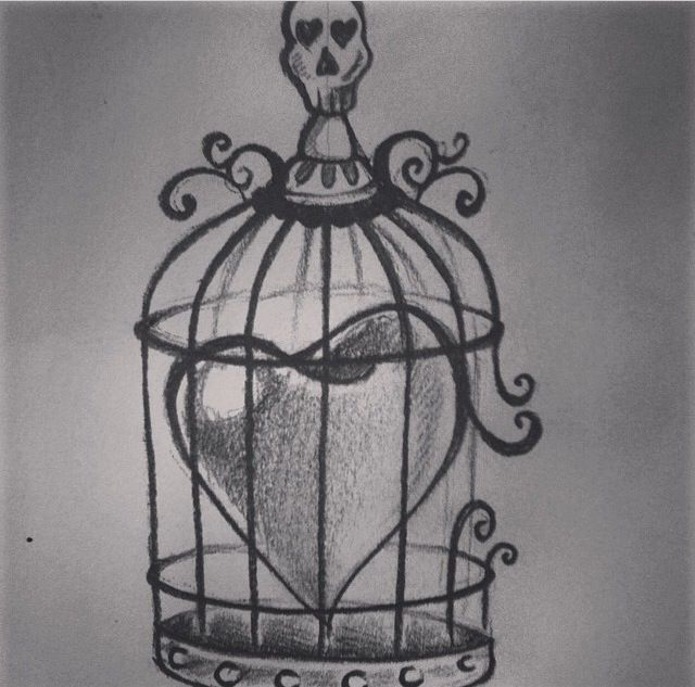 caged heart lovely art pinterest heart heart tattoos and tattoos and body art