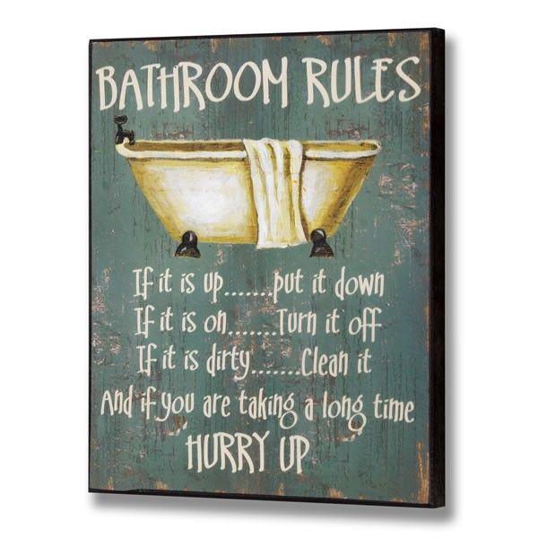 clever bathroom sayings - Google Search | Bathroom rules ...