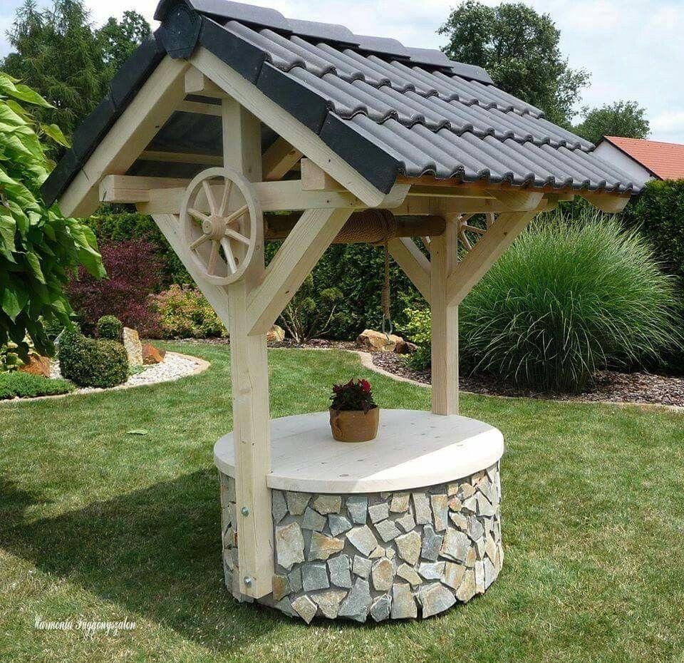 Well Pump cover Garden decor projects, Creative garden