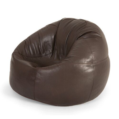 Hokku Designs Leather Bean Bag Chair in 2019 | Bean bag ...