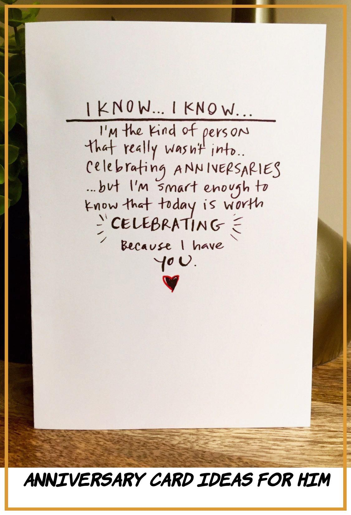 14 Good Anniversary Card Ideas for Him in 2020
