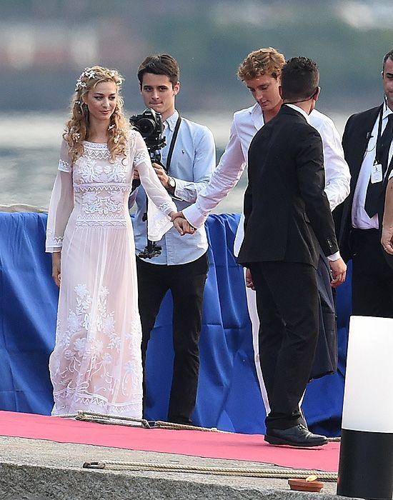 Beatrice Borromeo Looks Stunning At Start Of 2nd Wedding Wedding Dresses Famous Wedding Dresses Stunning Wedding Dresses