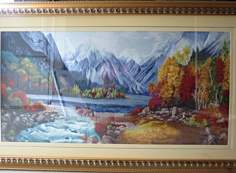 Elite Chinese Silk Art-Silk Hand Embroidery Frame-Autumn is in the Air - Wall Sculptures