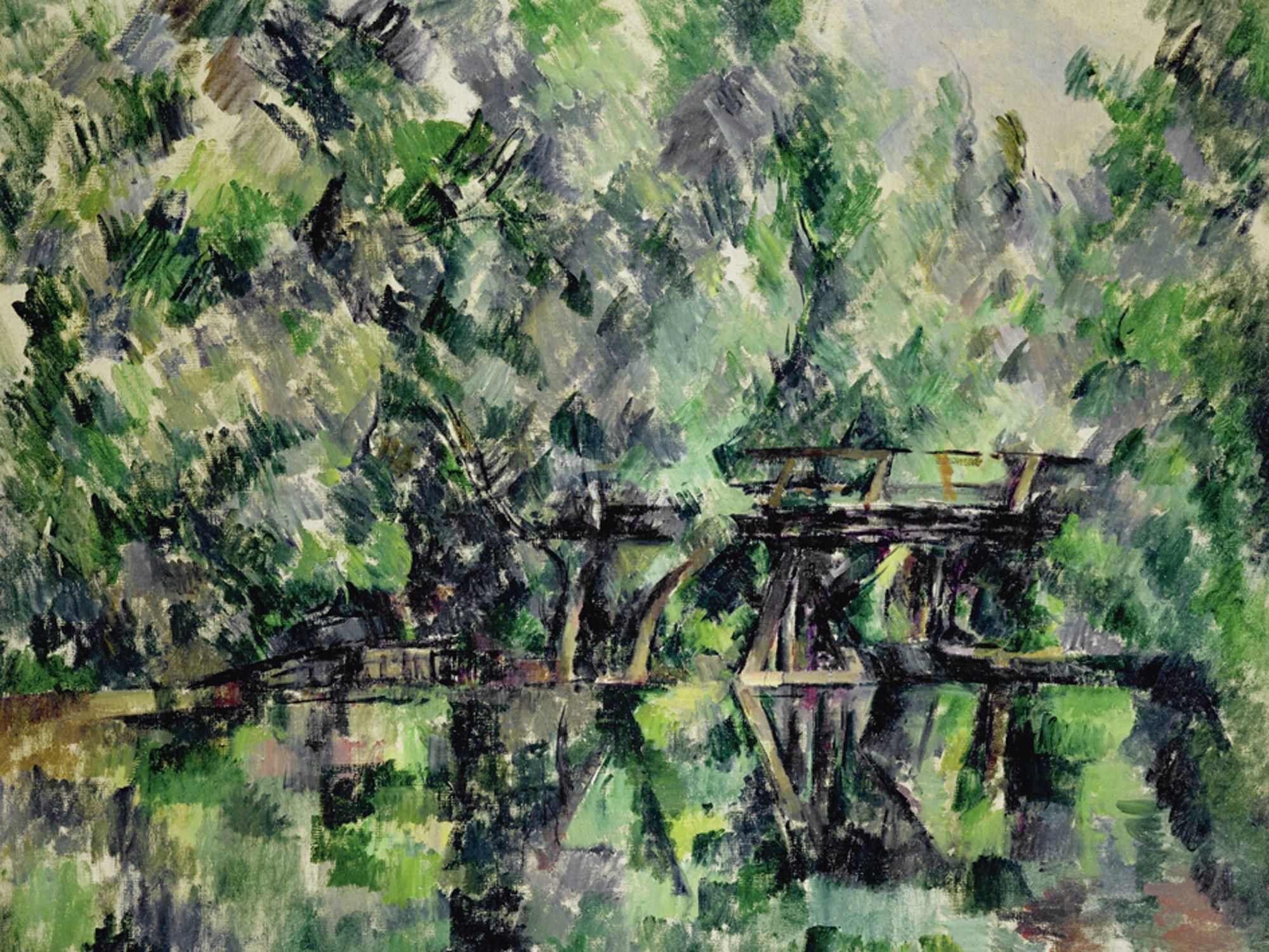 Paul Cézanne Brücke über Den Teich Leinwandbild Oder